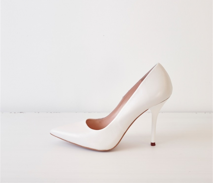 Zapato Salon Lodi Blanco Love Story