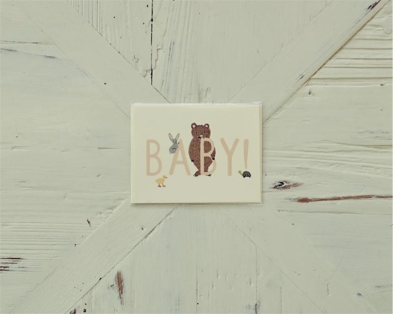 tarjeta felicitación Baby oso Love Story
