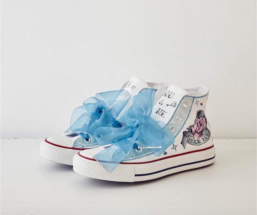 5805fae88 Zapatilla Converse All Star Custom - Love Story Novias