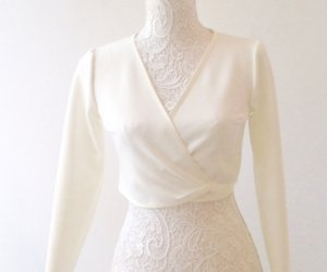 chaqueta bailarina de novia neopreno marfil