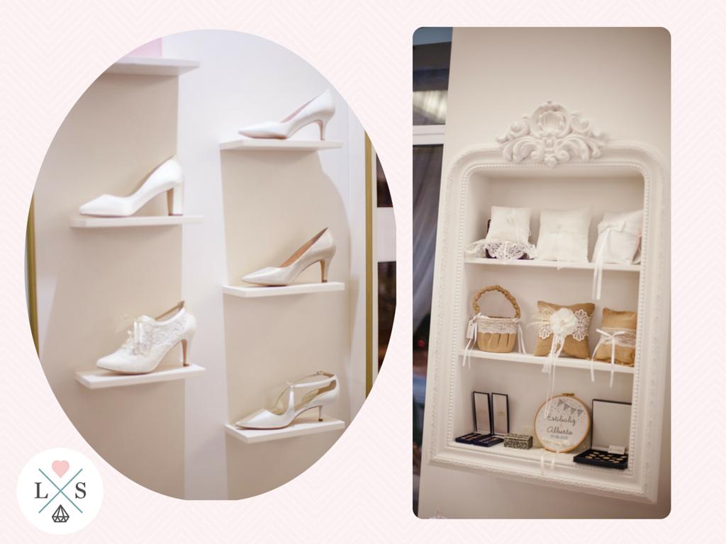 Love Story primer aniversario. zapatos y complementos