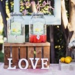 Lemonade Bar-Decoración de Bodas Love Story