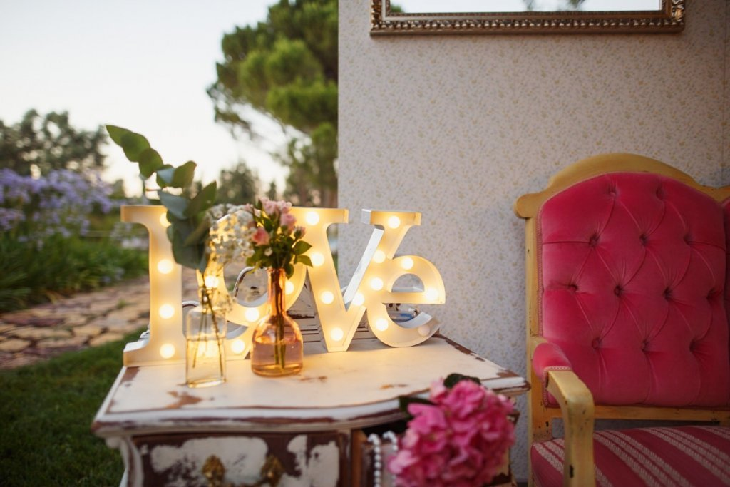 Photocall-Decoración de Bodas Love Story