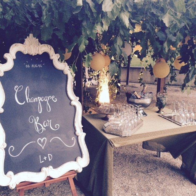 Wedding Planner Love Story Novias-Champagne Bar