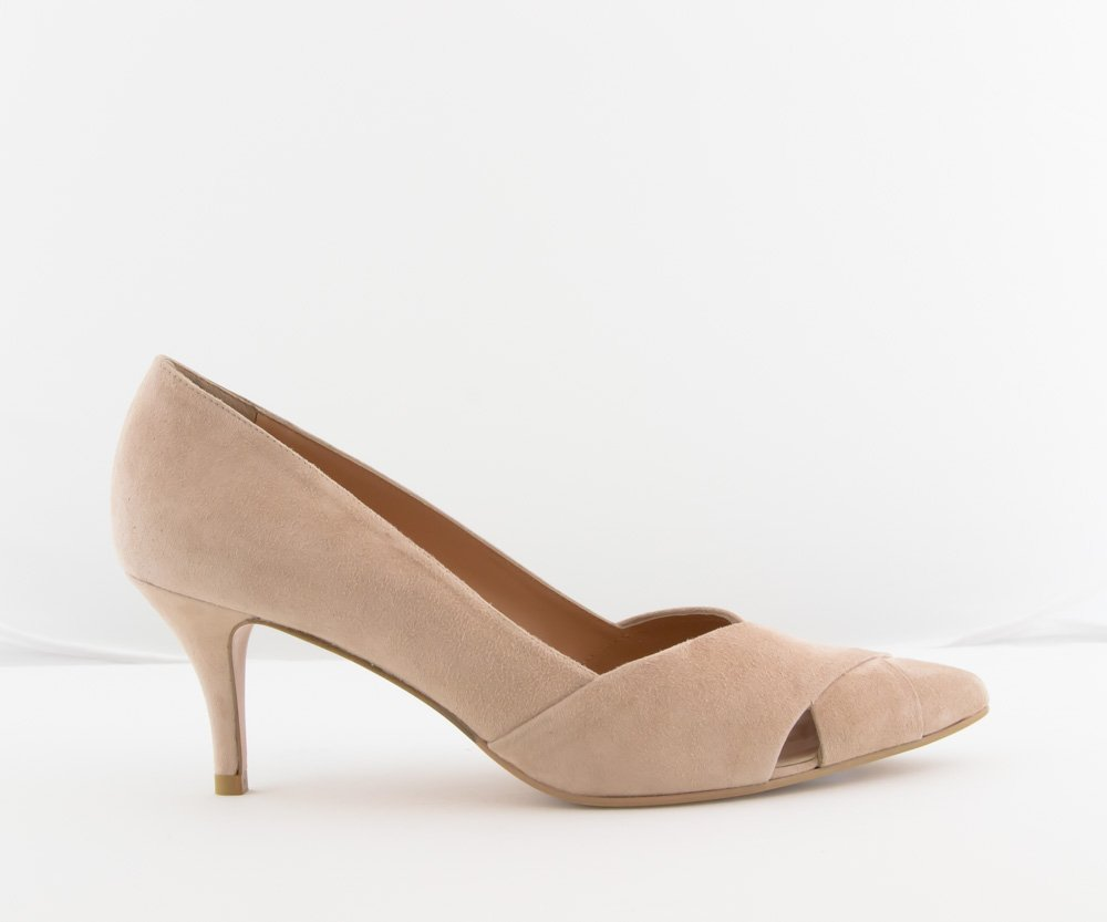 Zapato Salón - Sarah Verdel Ante Rosa - Love Story Novias c4c6db6f4ac3