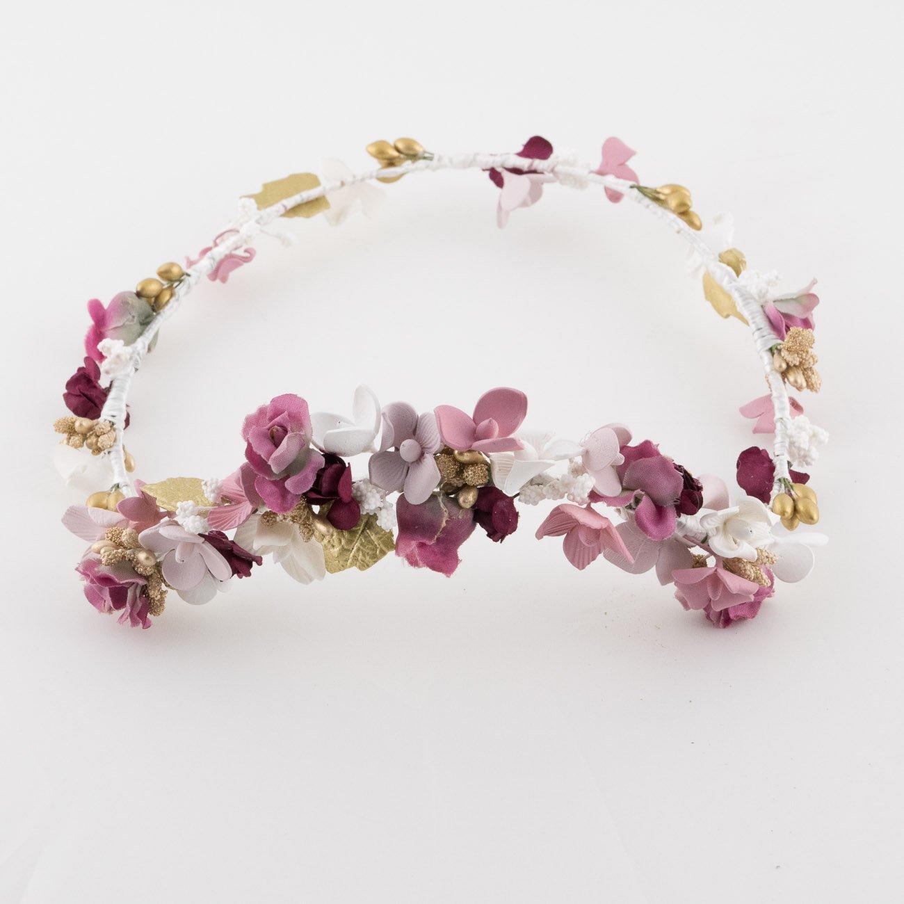 Tocado corona de flores de porcelana lorbichi - Coronas de flore ...