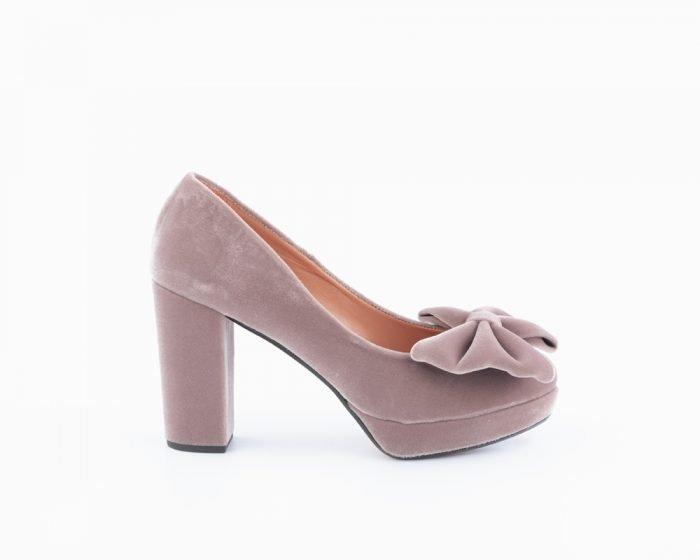 zapato terciopelo novia