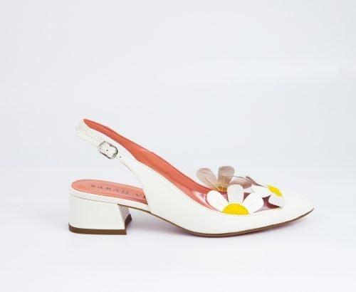 zapato tacon bajo novia