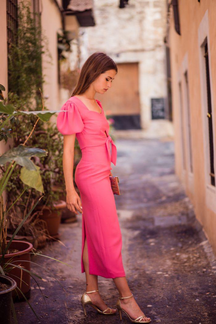 vestido invitada Jimena rosa