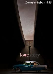 Coche de boda Love Story Novias Wedding Planner Zaragoza Chevrolet Bel Air