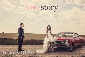 Coche de boda Love Story Novias Wedding Planner Zaragoza Pontiac