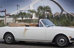 Coche de boda Love Story Novias Wedding Planner Zaragoza Rolls Royce