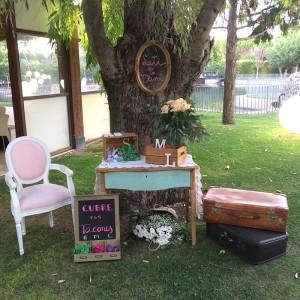 Decoración cubretacones boda Love Story Novias Wedding Planner Zaragoza