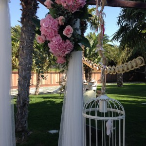 Decoración floral boda Love Story Novias Wedding Planner Zaragoza
